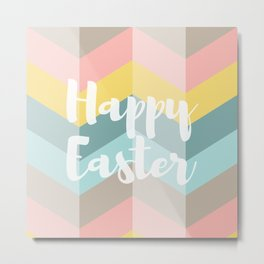 Holiday Happy Easter Waves Metal Print