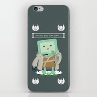 video games iPhone & iPod Skins featuring Jedi Mo: You will play video games... by FuManChou