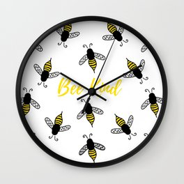 Stay Bumble Wall Clock