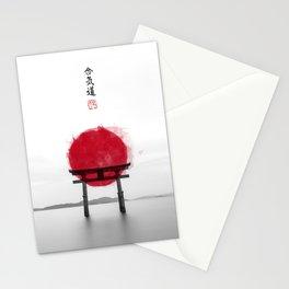 JAPANESE HINOMARU FLAG SIGNS Stationery Cards
