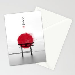JAPANESE HINOMARU FLAG SIGNS Stationery Cards