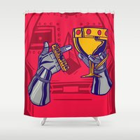 doom Shower Curtains featuring Pimp Doom by Kristian Bolanos
