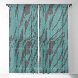 Tiger Quetzal Green Sheer Curtain