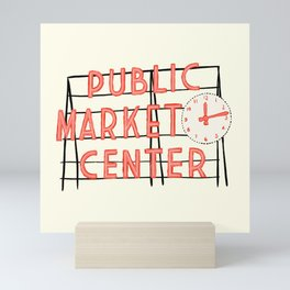 Pike Place Market Sign Mini Art Print