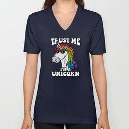 Trust Me I'm A Unicorn Unisex V-Neck