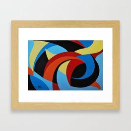 Abstract n.1 - Dancing. Everything Dissolve Framed Art Print