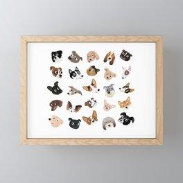 Dog Overload Portraits Framed Mini Art Print