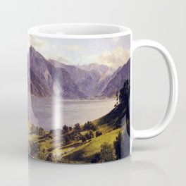 Ferdinand Georg Waldmüller Traunsee with Orth Castle Coffee Mug