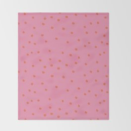 rosarita: polka dot punk Throw Blanket