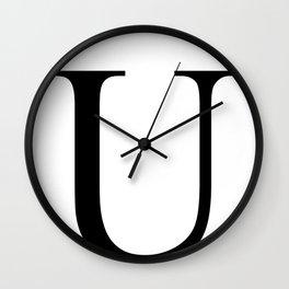 U letter Wall Clock