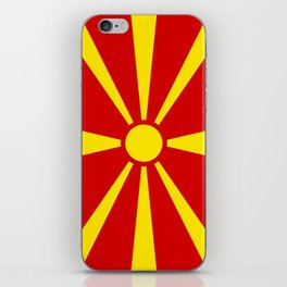 National flag of Macedonia - authentic version iPhone Skin