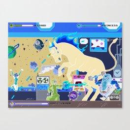 Princess Planet Boss Battle 3 - Joustickorn Canvas Print