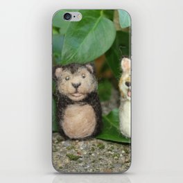 Felted Animal Miniatures iPhone Skin