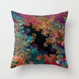 Flora-Red and Blue Throw Pillow