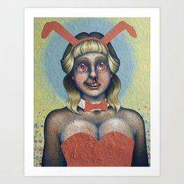 Pretty Bunny/Ugly Hare Art Print