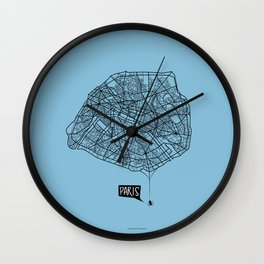 Spidermaps #1 Dark Wall Clock