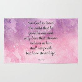 John 3:16, For God So Loved the World Scripture Rug