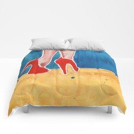 The Red High Heels Comforters