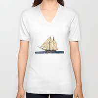 sail V-neck T-shirts featuring sail by The Traveling Catburys