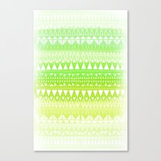 Triangle Gradient Lime Mix Canvas Print