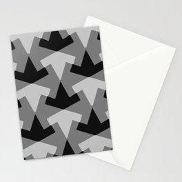 Monochrome geometric pattern Stationery Cards