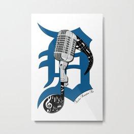 Detroit Music Metal Print