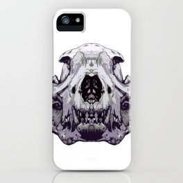 Wolf Skull Face - 01 iPhone Case