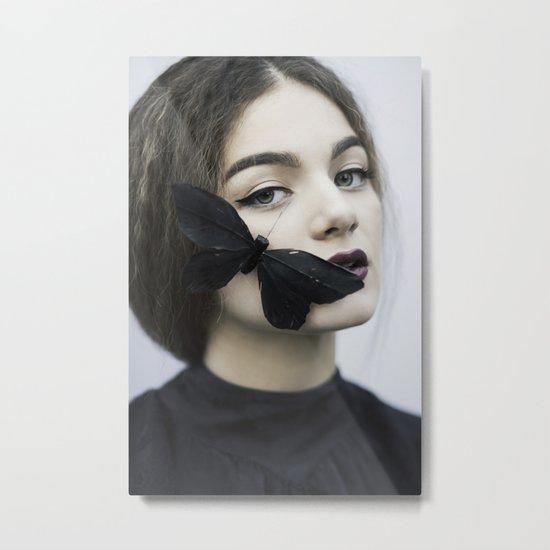 Butterfly black Metal Print