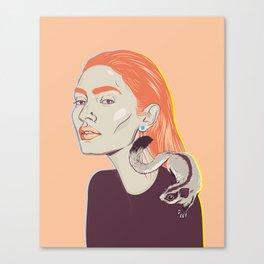 Sugar, glide with me Canvas Print