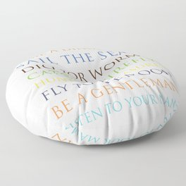 Be A Superhero, rainbow multi-color palette Floor Pillow