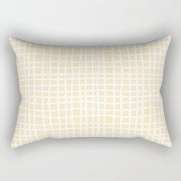coconut cream thread random cross hatch lines checker pattern Rectangular Pillow