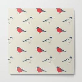 vintage pattern with birds Metal Print