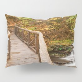 Autumn Boardwalk Bridge Pillow Sham