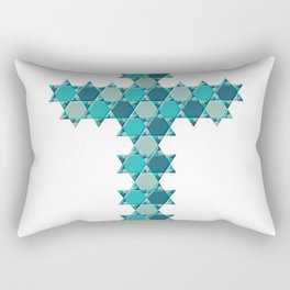 Blue star of david op Rectangular Pillow