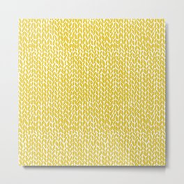 Hand Knit Yellow Metal Print