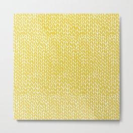 Hand Knit Yellow Metal Print
