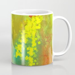 Flowers on Yellow Coffee Mug