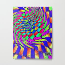 Tumbler #33 Trippy Psychedelic Optical Illusion Design by CAP Metal Print