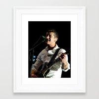 arctic monkeys Framed Art Prints featuring Alex Turner // Arctic Monkeys by Hattie Trott