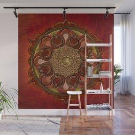 Mandala Flames Wall Mural