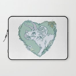 Triceratops Heart - Green Laptop Sleeve