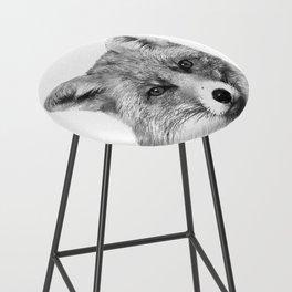 Black and White Fox Bar Stool