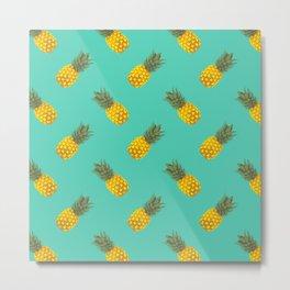 A pattern of pineapple Metal Print