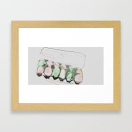 Egg tray Framed Art Print