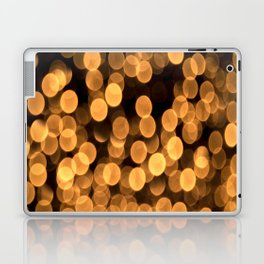 Golden Bokeh Light On A Black Background #decor #society6 Laptop & iPad Skin