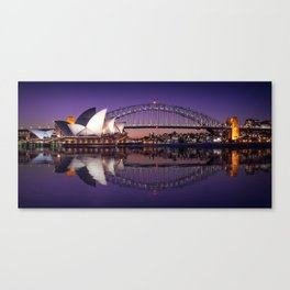 Sydney Waterfront Sunset Postcard Canvas Print