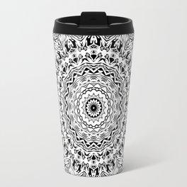 Black and white kaleidoscope 2 Travel Mug