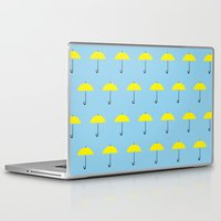 himym Laptop & iPad Skins featuring HIMYM Yellow Umbrella by tralalavelling