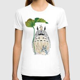 totoro moustache T-shirt