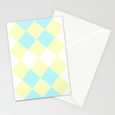Checkers Yellow/Blue Stationery Cards